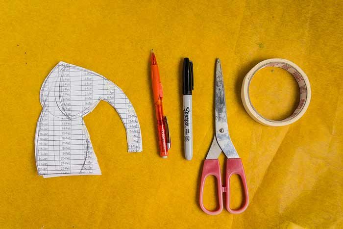 Materials & tools needed to make a paper mock up of your own plushie pattern // Marn Made It
