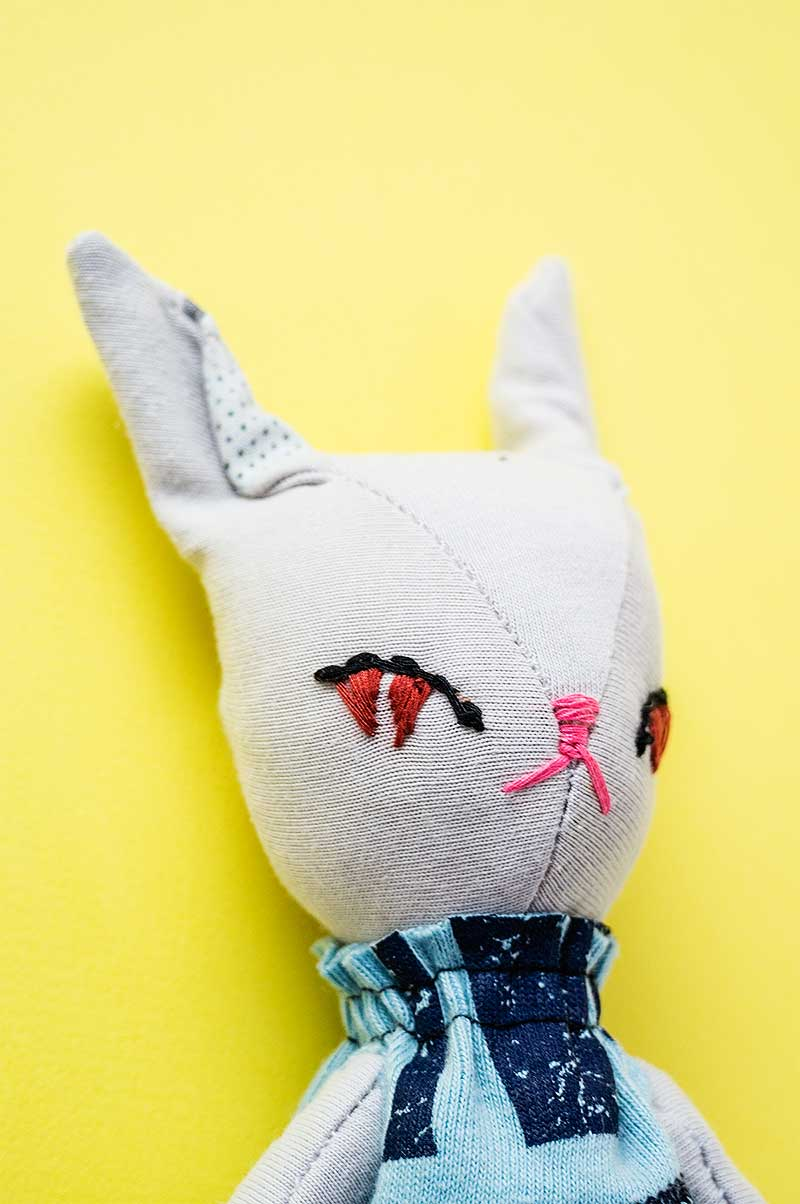 becca bunny doll - stand up ears- by Marn Wong // Marn Made It
