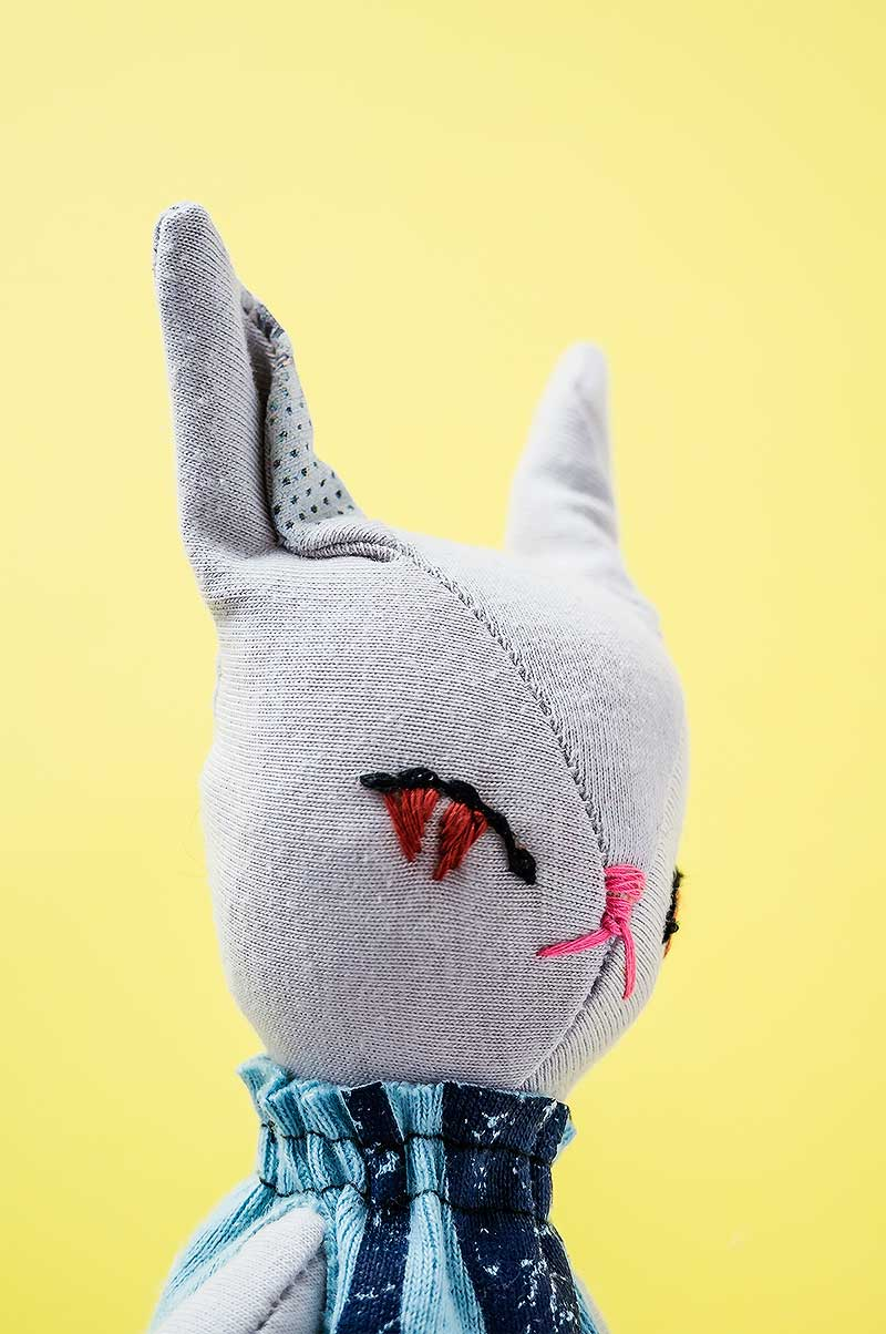 becca new bunny doll - embroidery eyes - by Marn Wong // Marn Made It