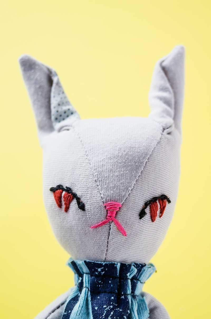 becca bunny doll - embroidery eyes - by Marn Wong // Marn Made It