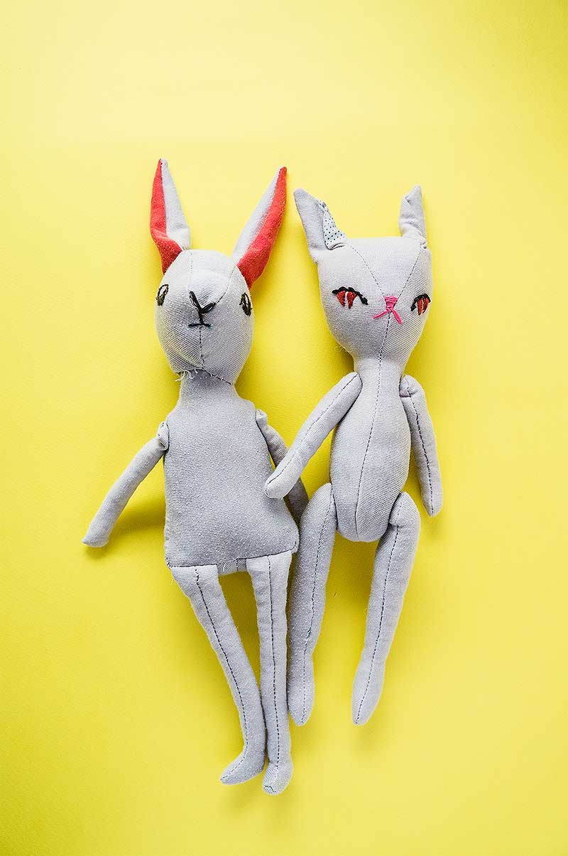 Bran & Becca, Bunny plushies by Marn Wong // Marn Made It