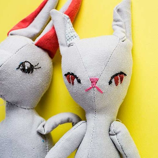Bran & Becca, Bunny soft toys by Marn Wong // Marn Made It