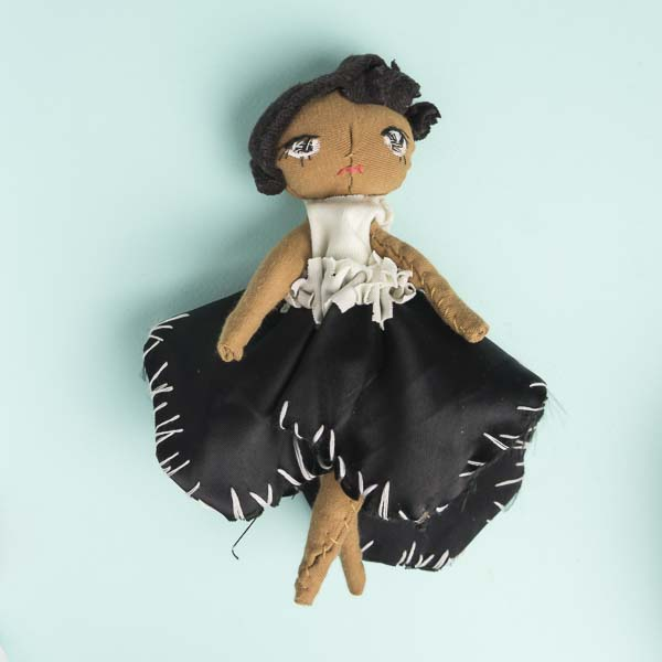 Adele mighty girl posable pocket doll in black and white formal attire