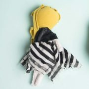 """Bianca posable mighty girl doll in 6"""" vlonde hair with striped outfit"""