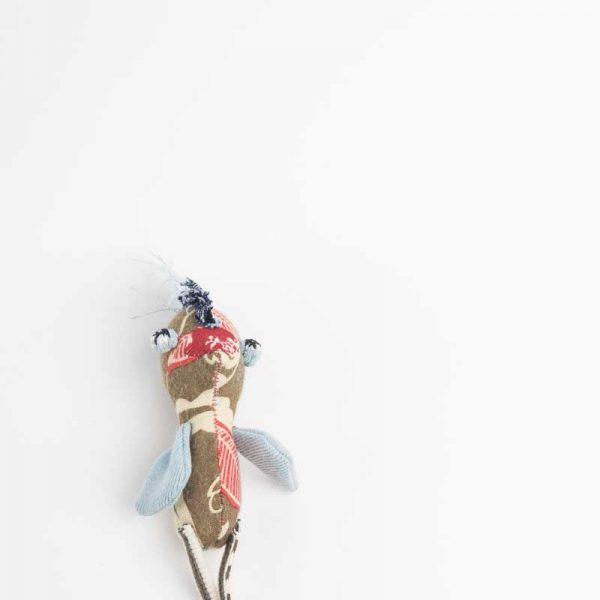 Brown chicken art doll. Handmade raw edges // Noisybeak
