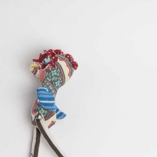 Floral eyed handmade chicke soft art pocket doll // Noisybeak