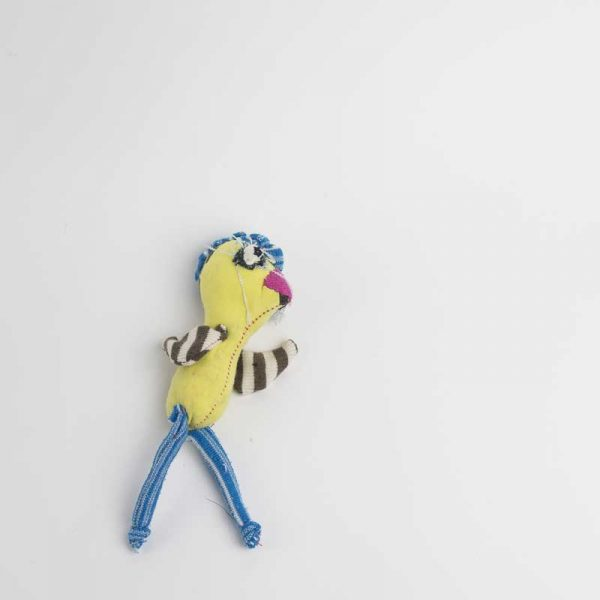 Yellow Chicken anti stress poclet art doll // Noisybeak