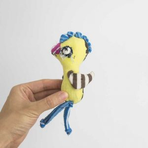 Yellow Chicken anti stress poclet art doll // Noisybeak