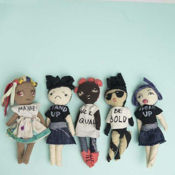 Noisybeak's might girls fabric art dolls