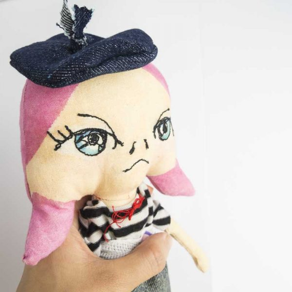 grouchy french girl art doll