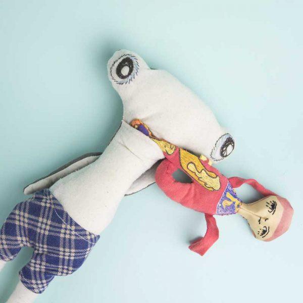 customised hammerhead shark doll