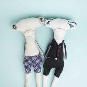 handmade customised hammerhead shark doll