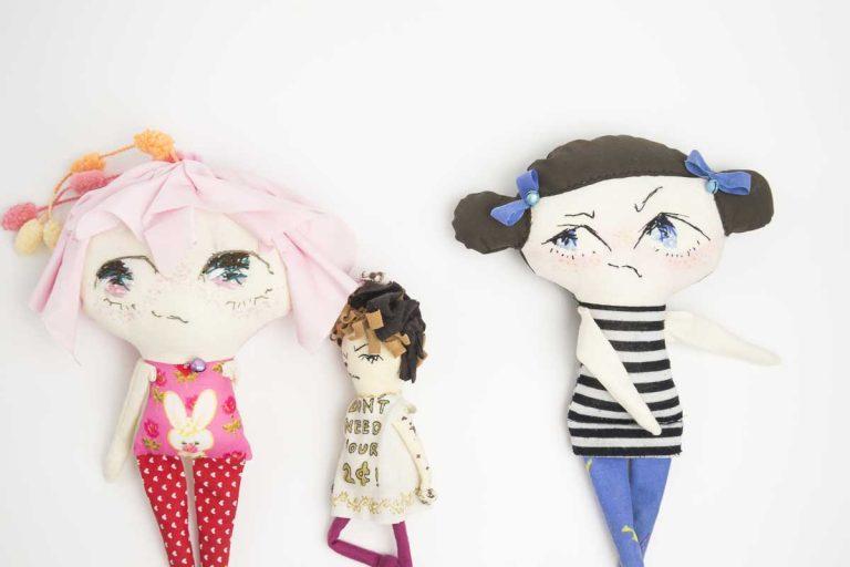 pingpong handmade big head cloth doll