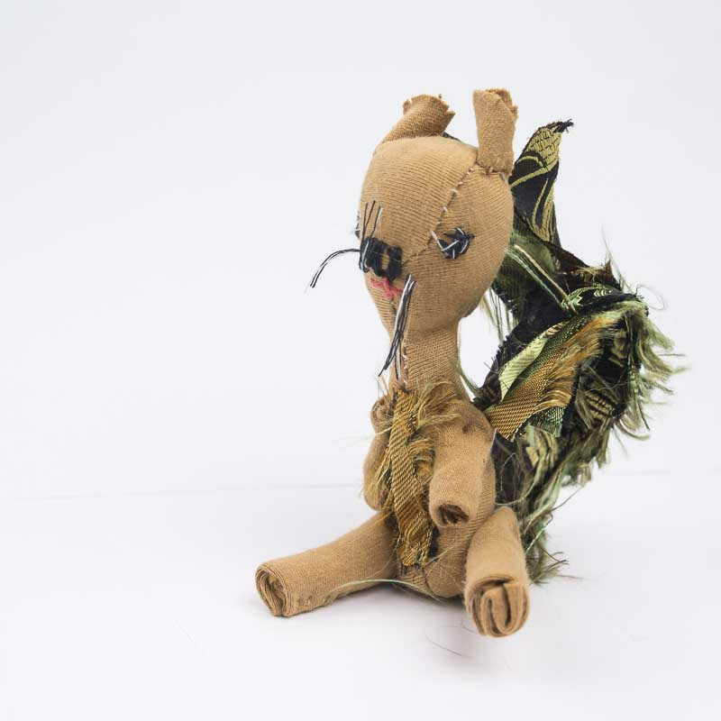 handmade squirrel doll