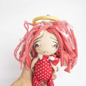 sad angel ooak doll