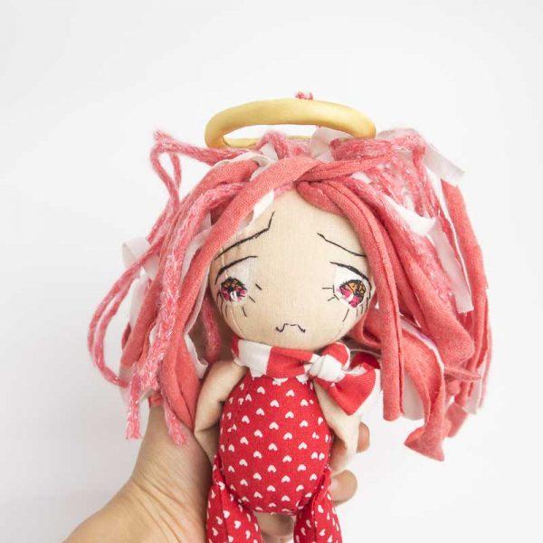 sad angel ooak doll
