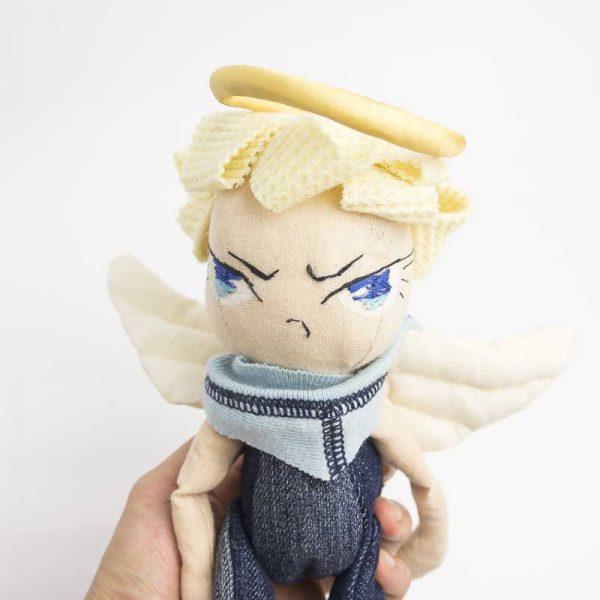 angel boy posable art doll