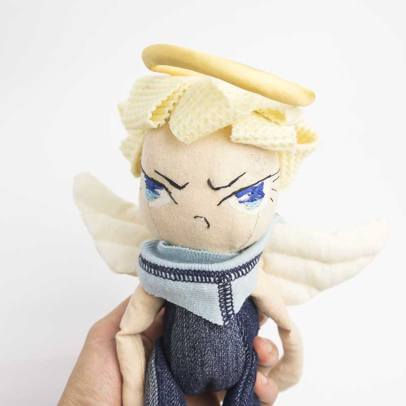 angel boy posable art doll