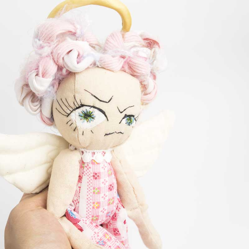 agressive angel doll ooak