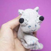 baby hippo textile doll handmade by noisybeak