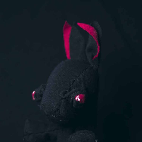 Baby Bat handmace cloth doll, hand-stitched soft sculpture. by Marn wong noisybeak