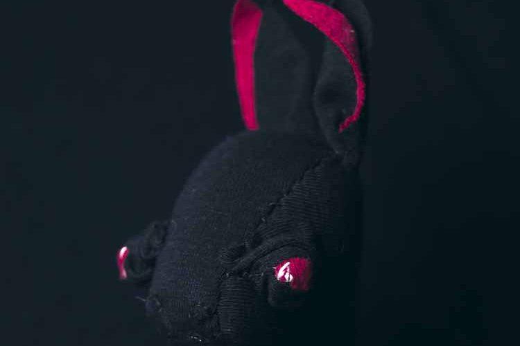 Baby Bat handmace cloth doll, hand-stitched soft sculpture. by Marn wong noisybeak