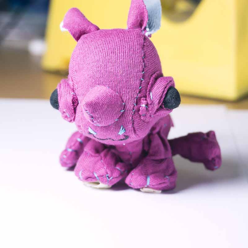 tiny collectible baby rhinoceros doll hand stiched