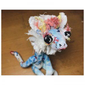 handmade giraffe art doll plushie