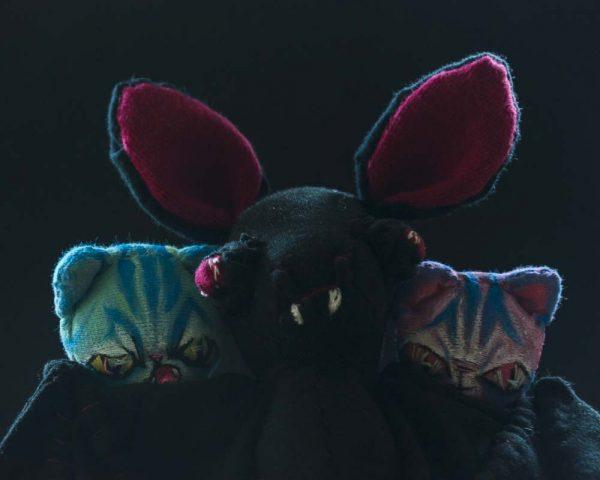 vampire bat lord and alien cat dolls handmade artist dolls
