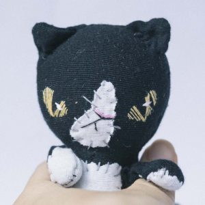 evil tuxedo black white cat plushie slowcraft