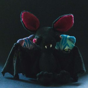vampire bat lord handmade plushie for halloween