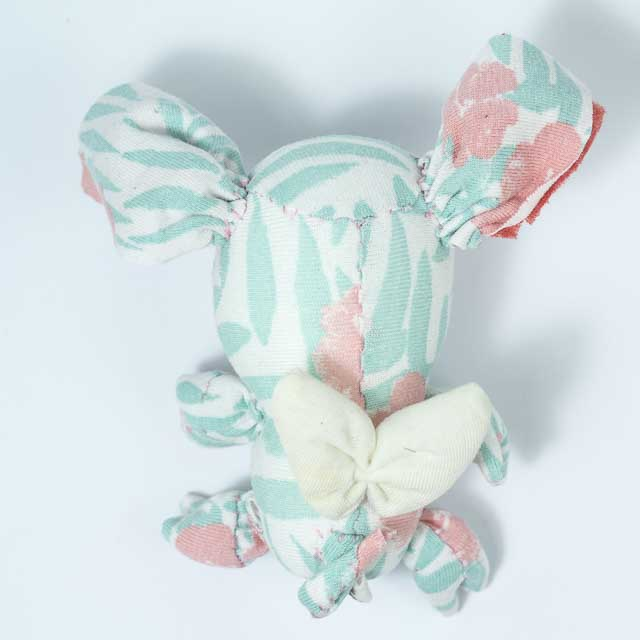 floral fabric piglet tiny plushie