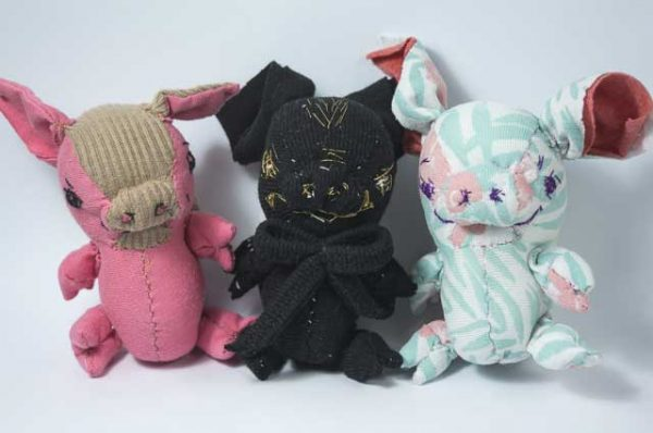 three little angel pigs handmade chubby animal pocket dolls