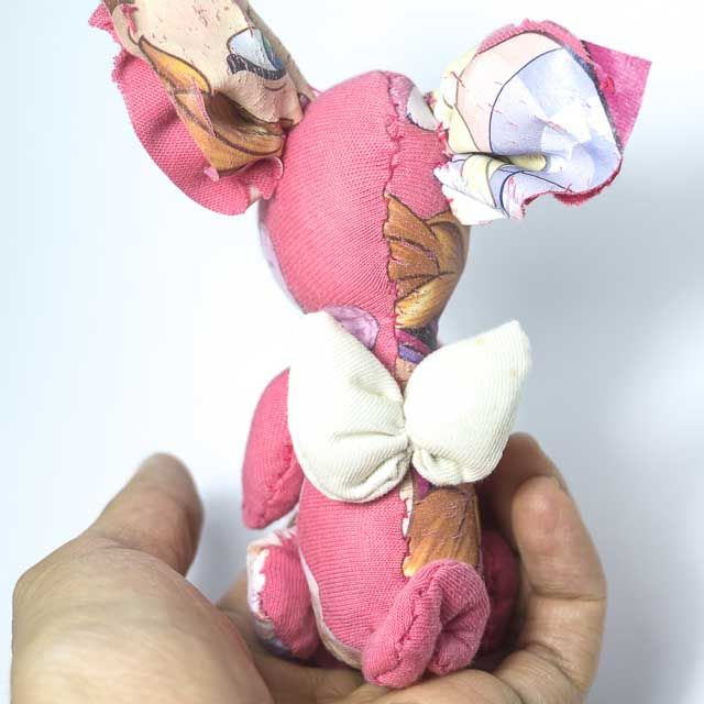 pocket angel piggy in pink with wings