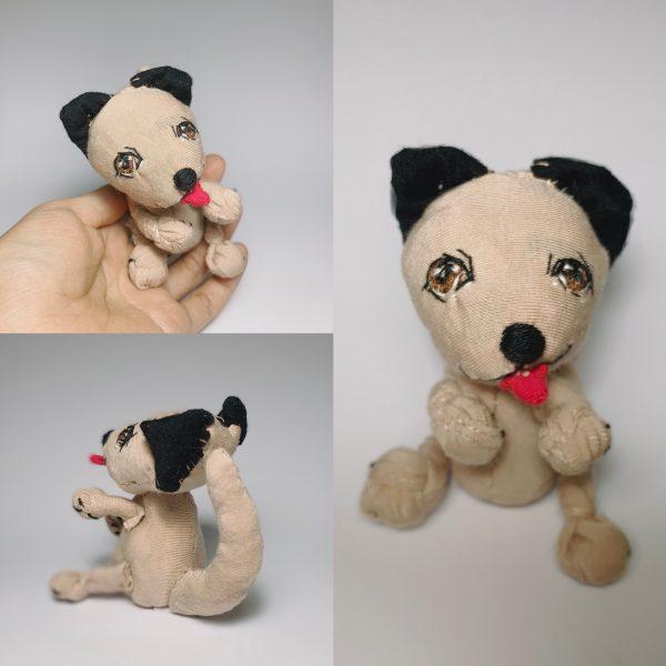 brown mongrel dog soft sculpture