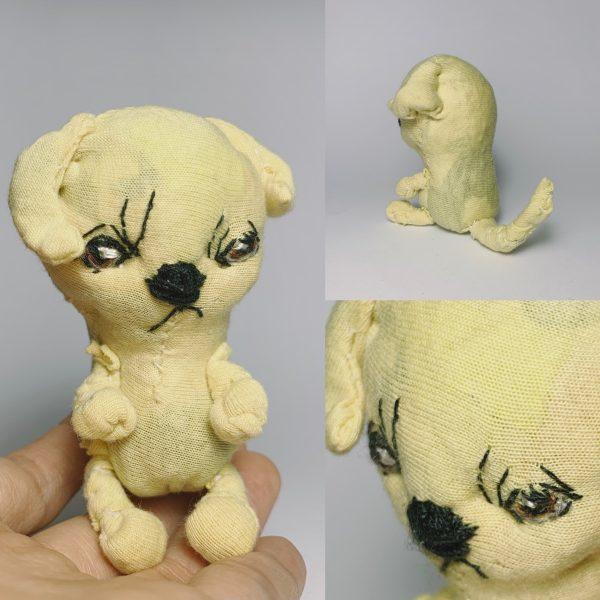 gold labrador retriever puppy doll